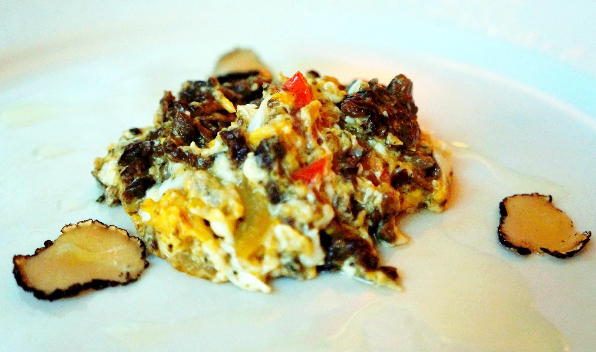 smrčak, jaja i tartufi